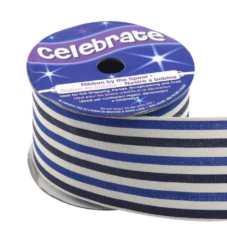 Celebrate Fine Parallel Stripe Cotton Ribbon