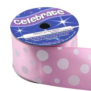 Celebrate Multi Sized Dots Satin Ribbon