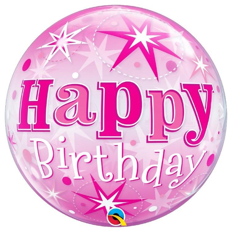 Qualatex Bubble Birthdy Starburst Sparkle Foil Balloon