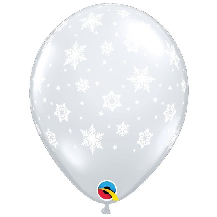 Qualatex Snowflakes Diamond Latex Balloon