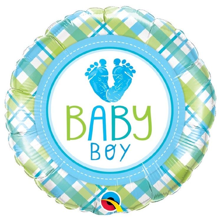 Qualatex Baby Boy Baby Lo Feet Foil Balloon