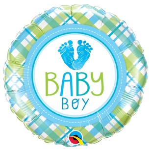 Qualatex Baby Boy Baby Lo Feet Foil Balloon