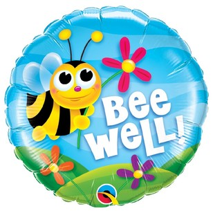 Qualatex Bee Well! Flowers Foil Balloon