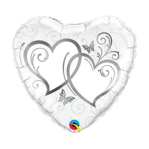 Qualatex Entwined Hearts Foil Balloon