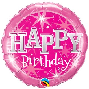 Qualatex Happy Birthday Sparkle Foil Balloon