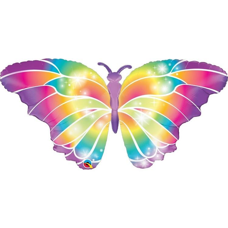 Qualatex Luminous Butterfly Foil Balloon