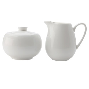 Casa Domani Casual White Sugar & Creamer Set