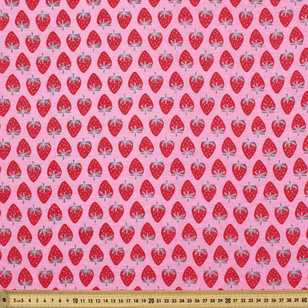 Strawberry Printed Combed Cotton
