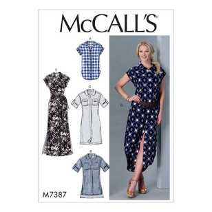 McCall's Pattern M7387 Misses' Button-Down Top