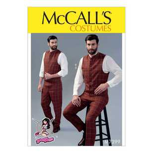 McCall's Pattern M7399 Single or Double-Breasted Vests & Flat-Front Pants