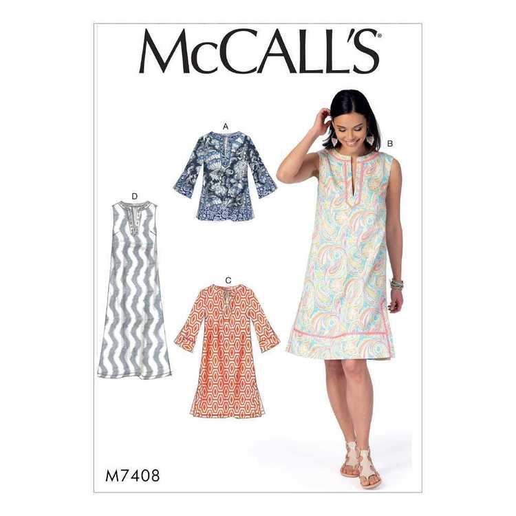 McCall's Pattern M7408 Misses' Notched Tunic & Dresses
