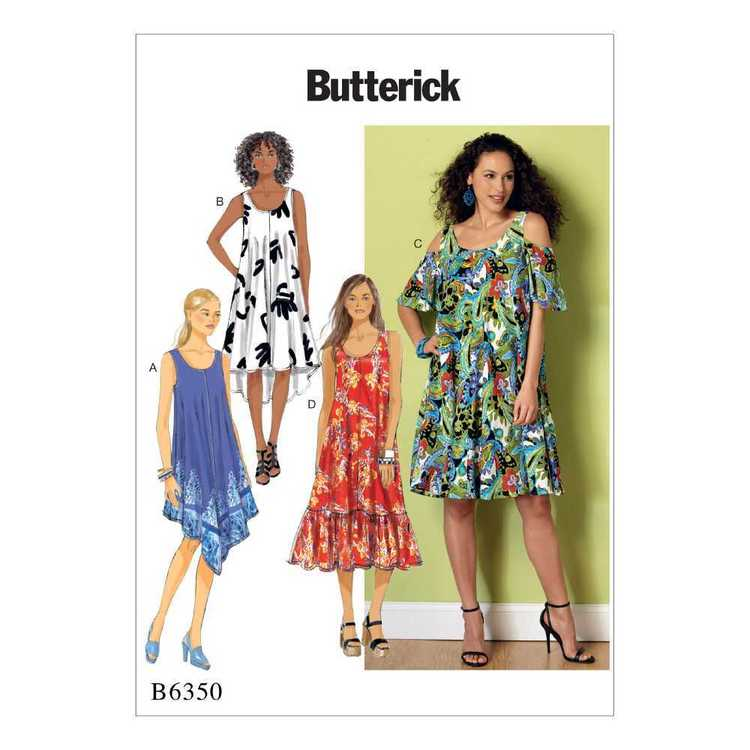 Butterick Pattern B6350 Misses' Sleeveless & Cold-Shoulder Tent Dresses