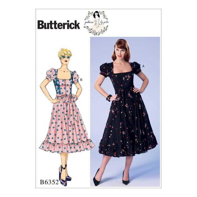 Butterick Pattern B6352 Misses' & Misses' Petite Square-Neck