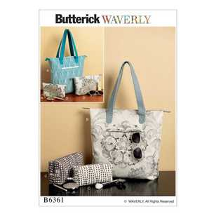 Butterick Pattern B6361 Tote Bags & Cosmetic Pouches