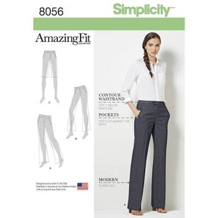 Simplicity Pattern 8056 Amazing Fit Miss & Plus Size Flared Pants or Shorts