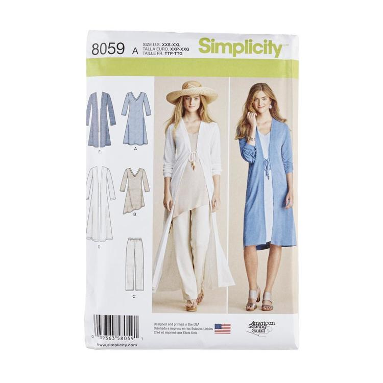 Simplicity Pattern 8059 Misses Separates Sized XXS to XXL
