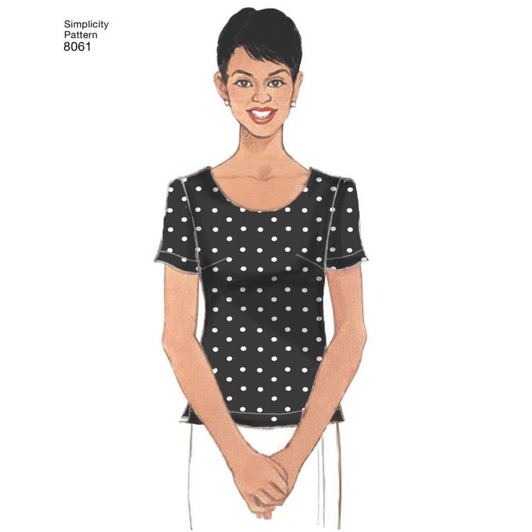 Simplicity Pattern 8061 Misses' Tops