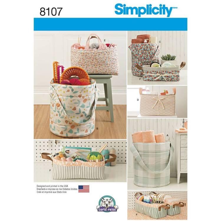 Simplicity Pattern 8107 Bucket