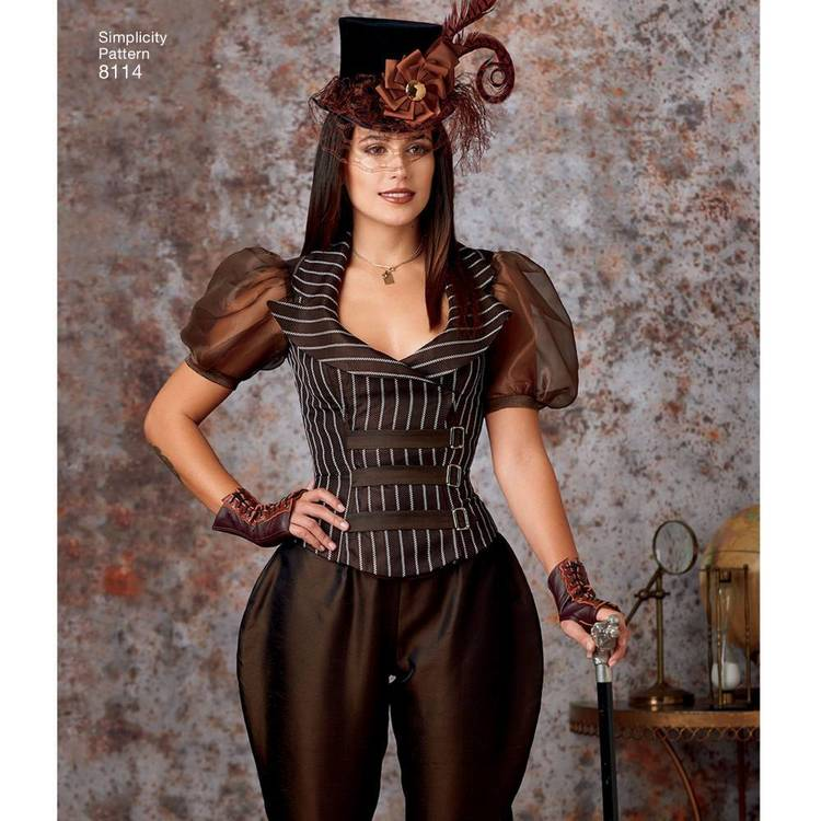 Simplicity Pattern 8114 Misses' Steampunk Costume