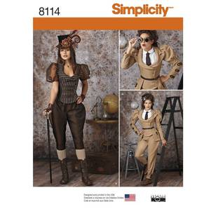 Simplicity 8114 Misses' Steampunk Costumes