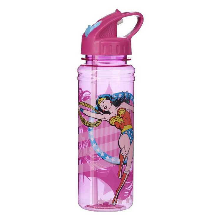 DC Comics Justice League Girls Soft Spout Bottle Pink