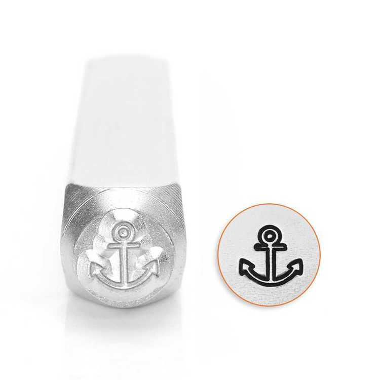 ImpressArt Anchor Design Stamp Silver