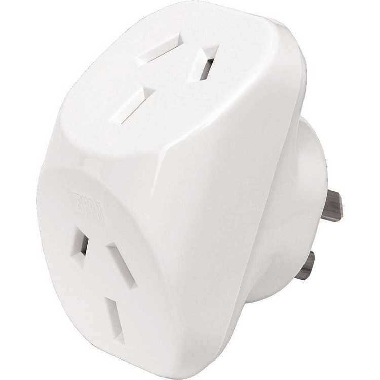 HPM D102WE Double Adaptor White