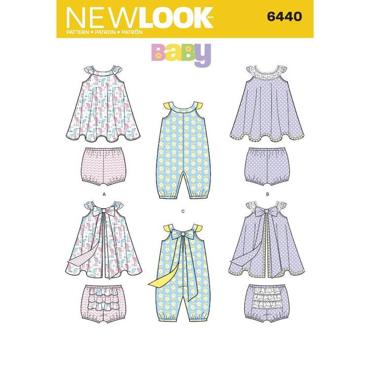New Look Pattern 6440 Babies' Romper & Sundress with Panties