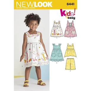 New Look Pattern 6441 Toddlers' Easy Dresses