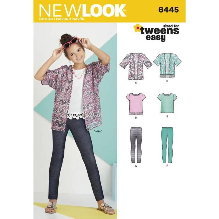New Look Pattern 6445 Easy Girl's Kimono