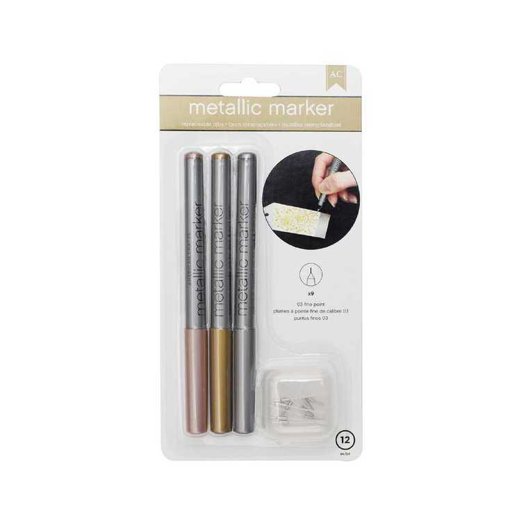 American Crafts Fine Point Metallic Pens