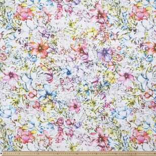Watercolours Flower Bouquet Fabric