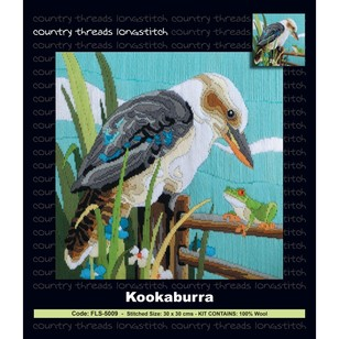 Country Threads Kookaburra With Frog Long Stitch