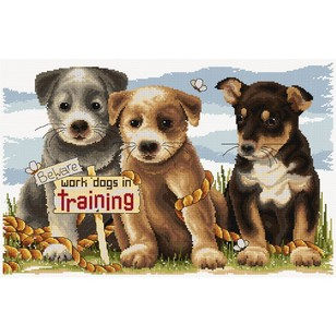 Country Threads Work Dogs Training Cross Stitch