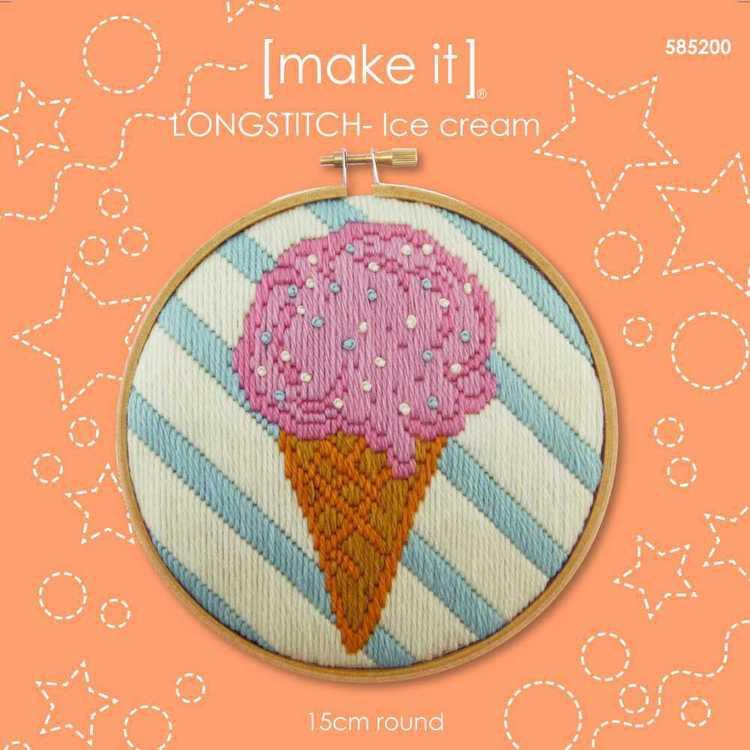 Make It Long Stitch Ice Cream Hoop Kit