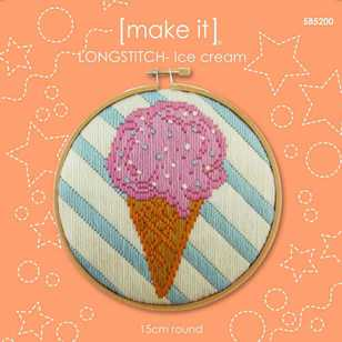 Make It Long Stitch Ice Cream Hoop Kit