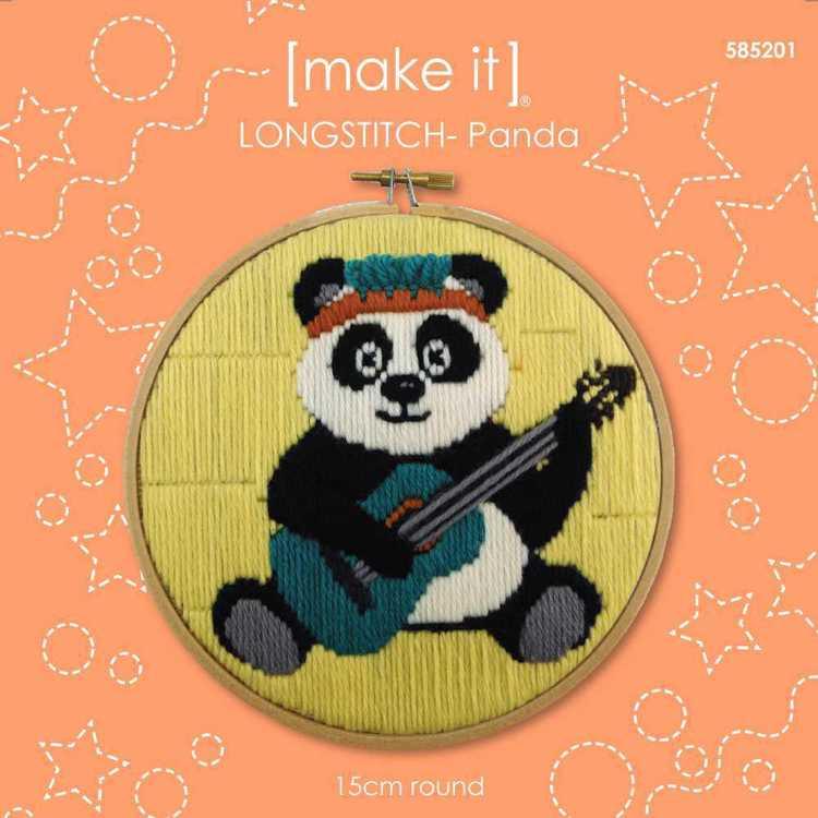 Make It Long Stitch Panda Hoop Kit