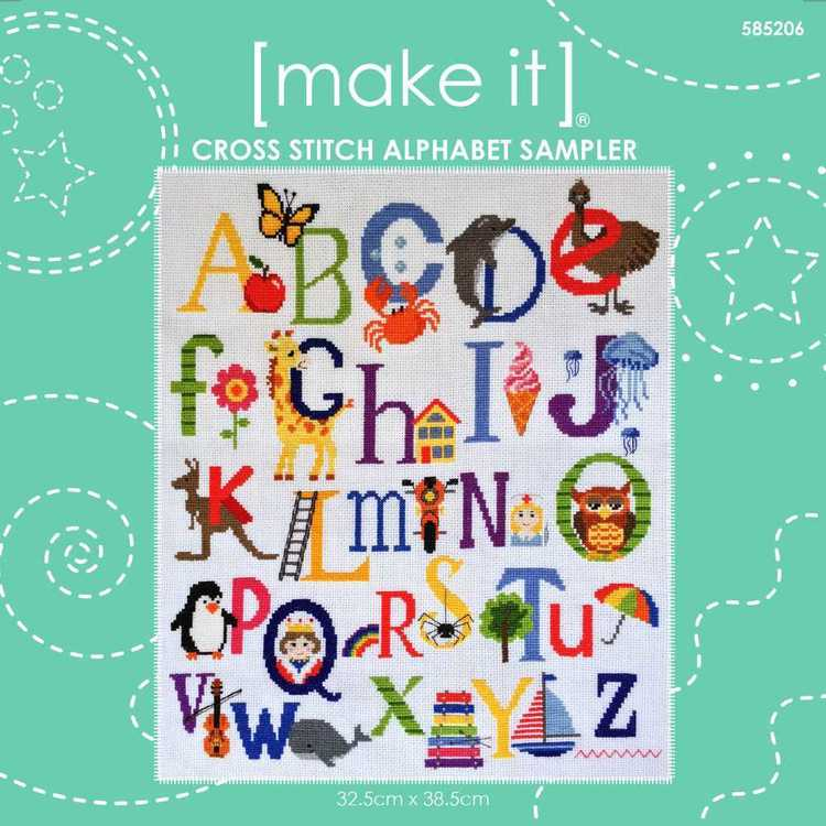 Make It Cross Stitch Alphabet Sampler