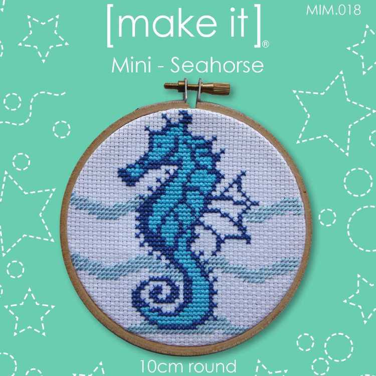 Make It Cross Stitch Seahorse Hoop Kit