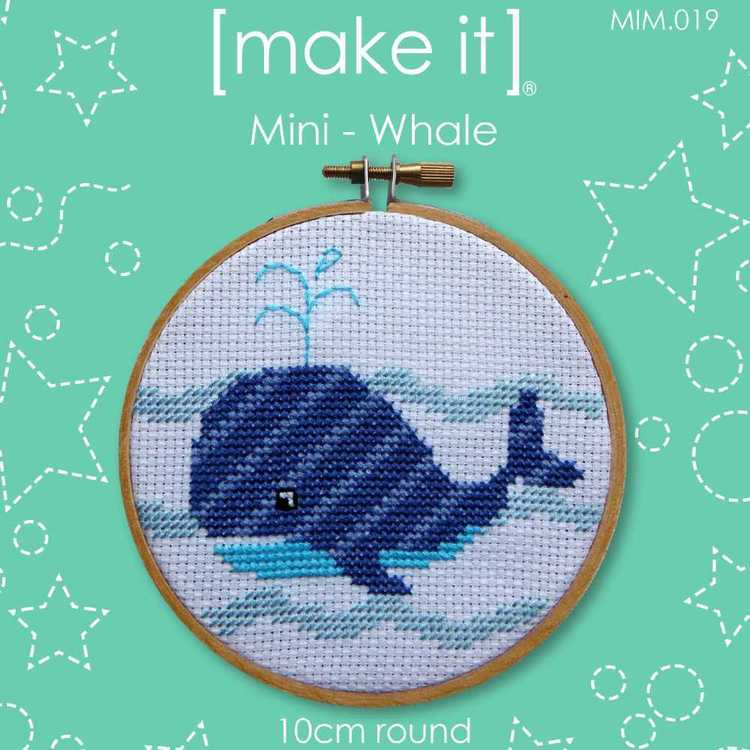 Make It Cross Stitch Whale Hoop Kit