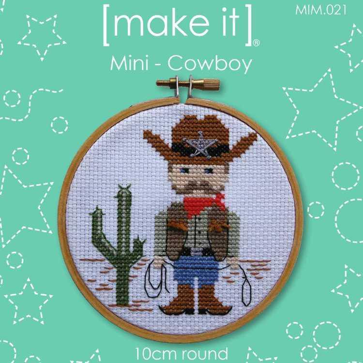 Make It Cross Stitch Cowboy Hoop Kit