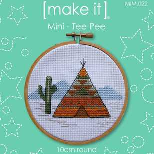 Make It Cross Stitch Tee Pee Hoop Kit