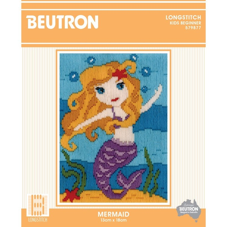 Beutron Mermaid Long Stitch Kit