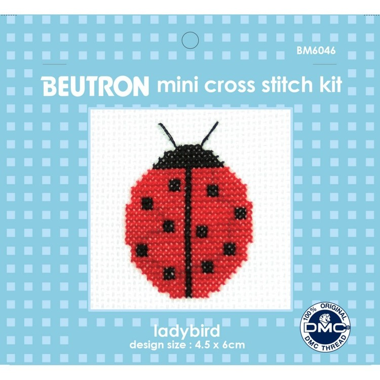 Beutron Ladybug Cross Stitch Kit