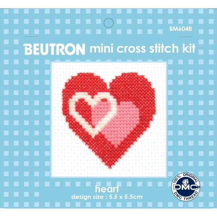 Beutron Heart Cross Stitch Kit