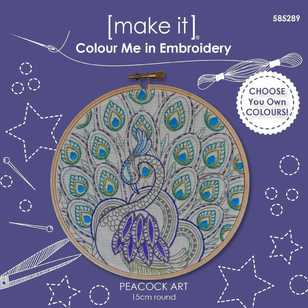 Make It Embroidery Peacock Art Colour Me