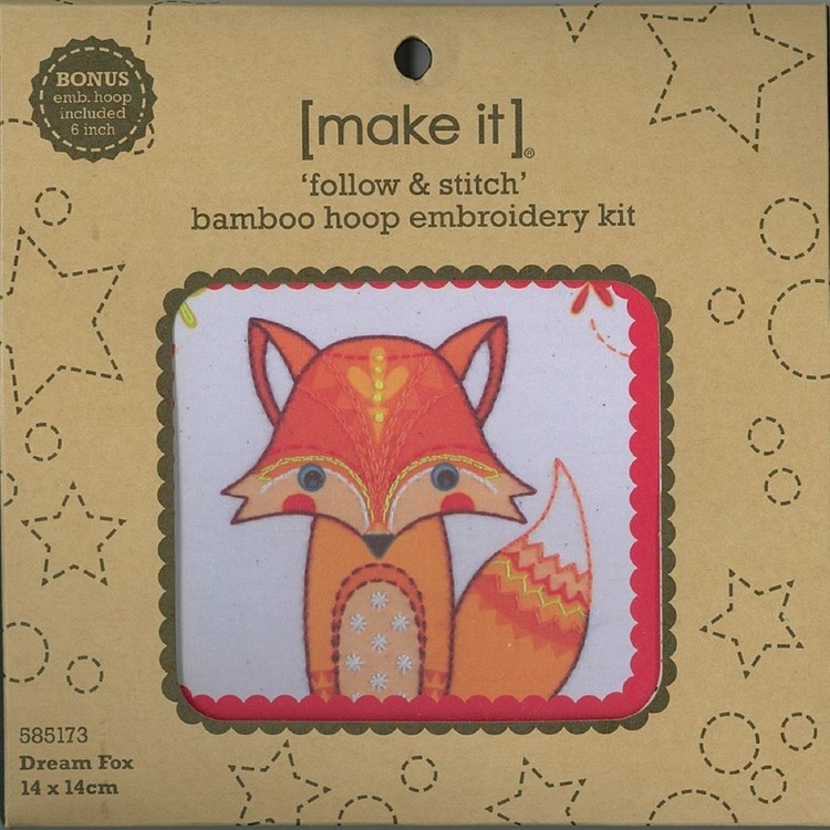 Make It Embroidery Fox Hoop Kit