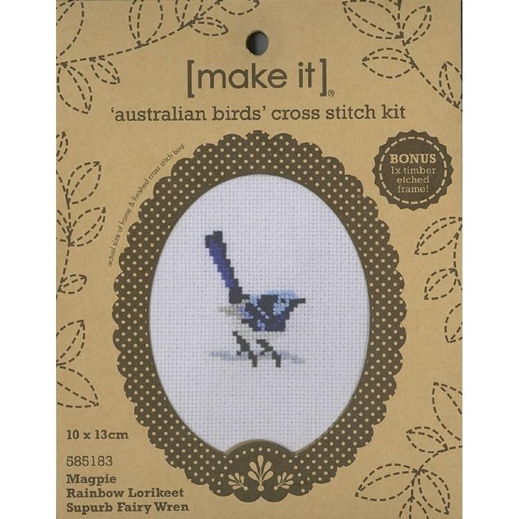 Make It Cross Stitch Birds M L C Frame Kit