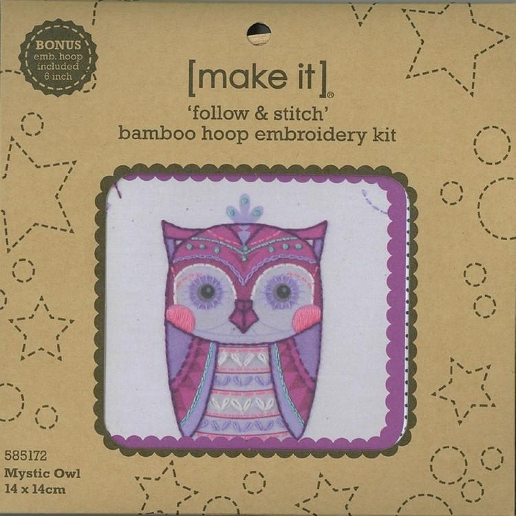 Make It Embroidery Owl Hoop Kit