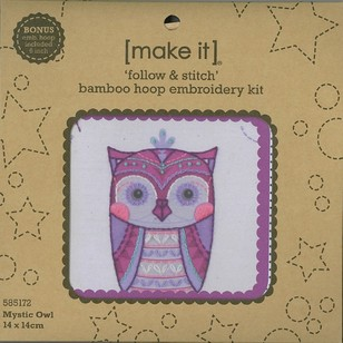 Make It Embroidery Owl Hoop Kit